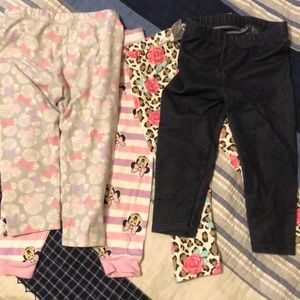 Mickey Mouse baby leggings lot of 4 size 18 months